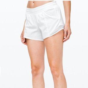 """Lululemon hotty hot short 4"""" in white"""